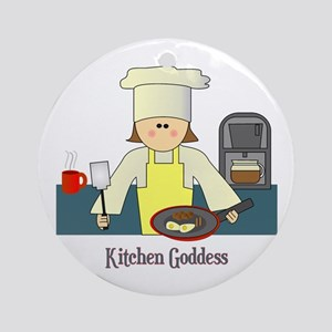 Kitchen Goddess Ornament (Round)