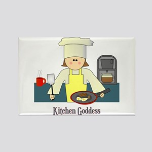 Kitchen Goddess Rectangle Magnet