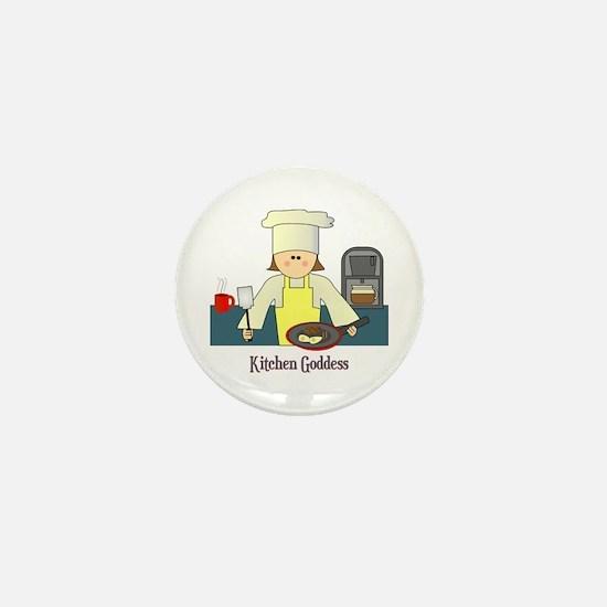 Kitchen Goddess Mini Button