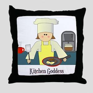 Kitchen Goddess Throw Pillow
