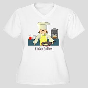 Kitchen Goddess Women's Plus Size V-Neck T-Shirt