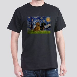 Starry Night & Dachshund Pair T-Shirt
