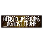 African-Americans Against Trump Bumper Sticker