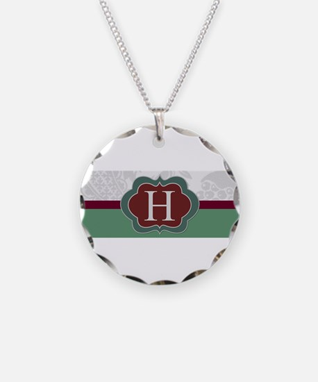 Beautiful Monogrammed Design by LH Necklace