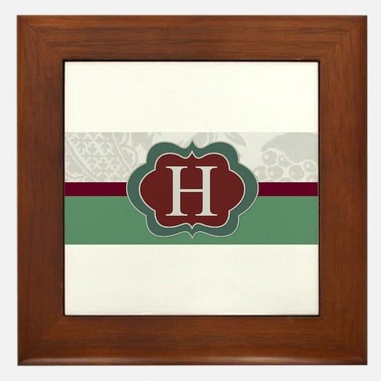 Beautiful Monogrammed Design by LH Framed Tile