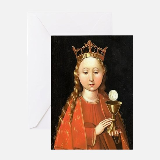 Saint Barbara by Master of the Starck Triptych Gre