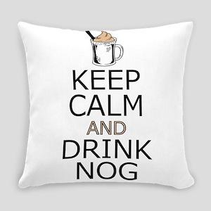 Keep Calm Drink Eggnog Everyday Pillow
