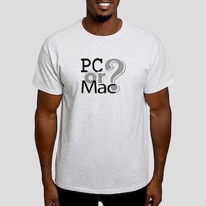 PC or Mac Light T-Shirt