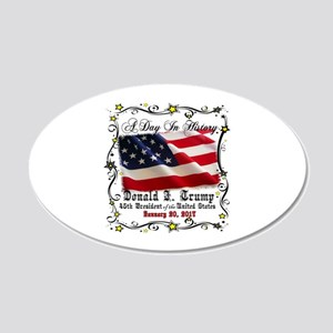 History Trump Pence 2017 20x12 Oval Wall Decal