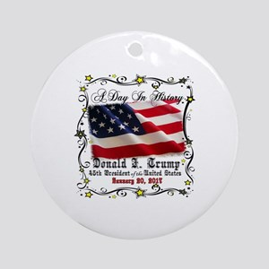 History Trump Pence 2017 Round Ornament