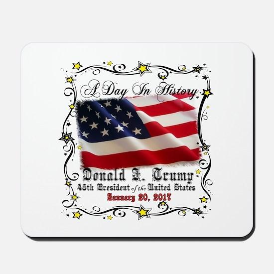 History Trump Pence 2017 Mousepad