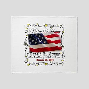 History Trump Pence 2017 Throw Blanket