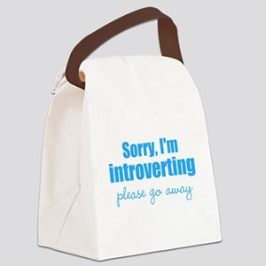 Sorry Im Introverting Please Go Away Canvas Lunch