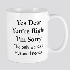 Yes Dear Husband's Words Mugs