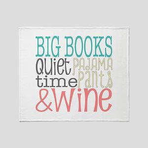 Big Books Pajama Quiet Wine 4 Throw Blanket