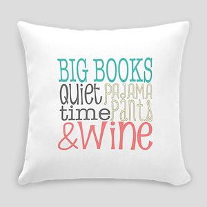 Big Books Pajama Quiet Wine 4 Everyday Pillow