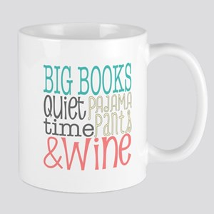 Big Books Pajama Quiet Wine 4 Mugs