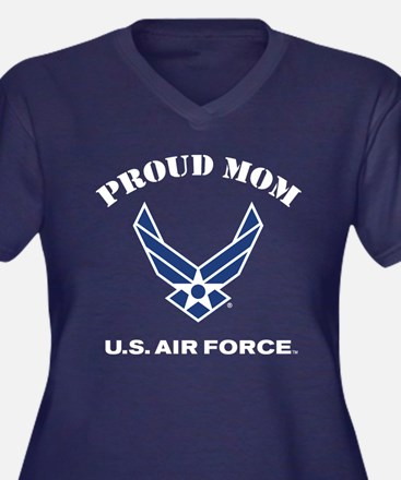 Proud US Air Women's Plus Size V-Neck Dark T-Shirt