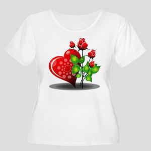 Valentine's Day Heart Plus Size T-Shirt