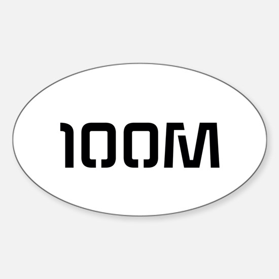 100 Miler Sticker (oval)