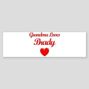 Grandma Loves Brady Bumper Sticker