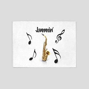 Jammin' Sax 5'x7'Area Rug
