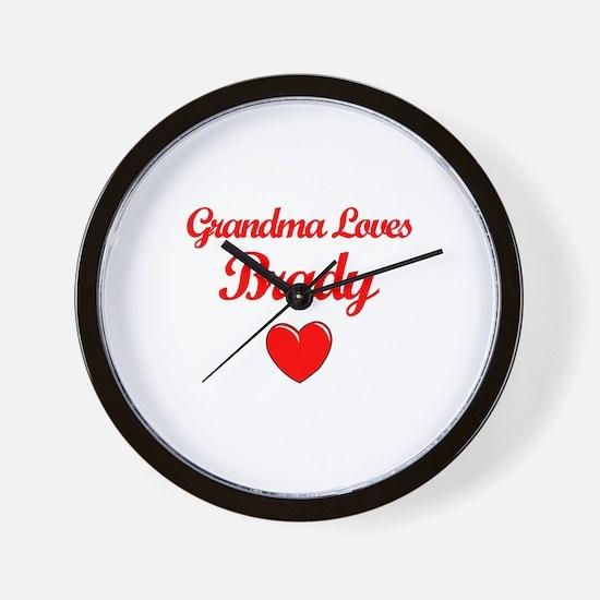 Grandma Loves Brady Wall Clock