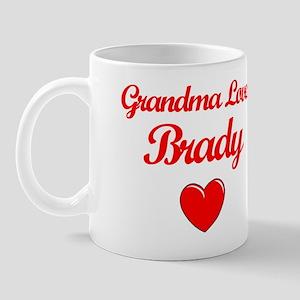 Grandma Loves Brady Mug