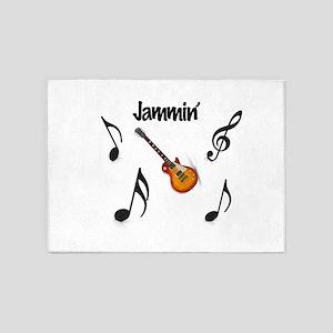 Jammin' Electric Guitar 5'x7'Area Rug