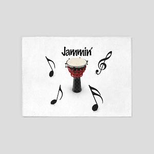 Jammin' Drum 5'x7'Area Rug