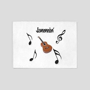 Jammin' Guitar 5'x7'Area Rug