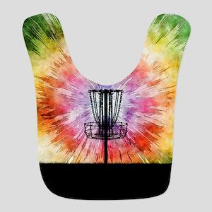 Tie Dye Disc Golf Basket Polyester Baby Bib