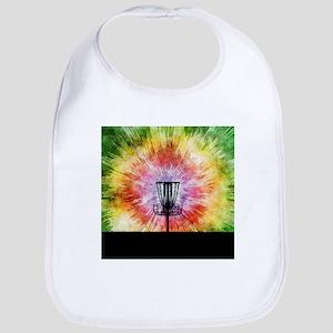 Tie Dye Disc Golf Basket Baby Bib