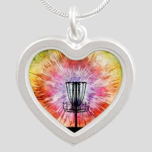 Tie Dye Disc Golf Basket Necklaces