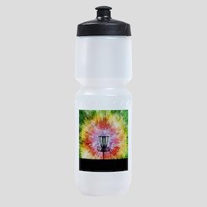 Tie Dye Disc Golf Basket Sports Bottle