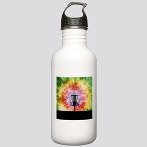 Tie Dye Disc Golf Basket Water Bottle