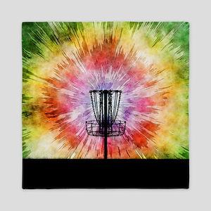 Tie Dye Disc Golf Basket Queen Duvet