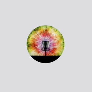 Tie Dye Disc Golf Basket Mini Button