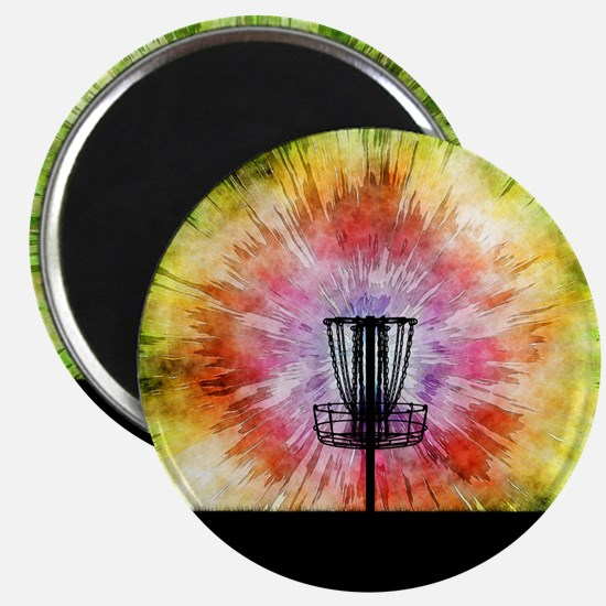 Tie Dye Disc Golf Basket Magnets