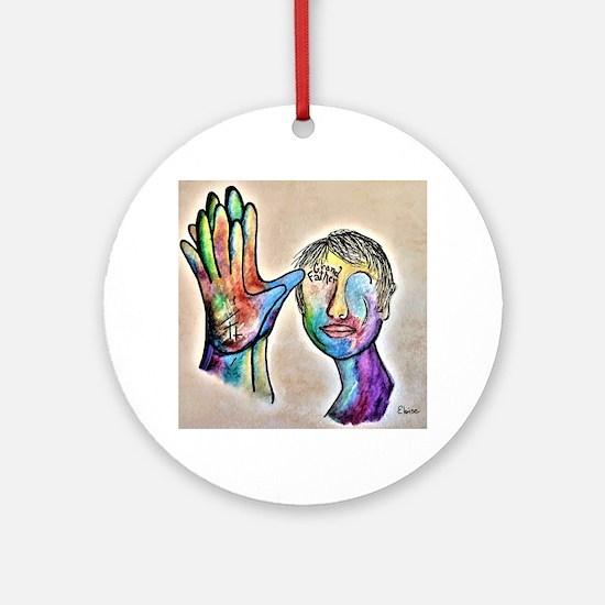 Deaf art Round Ornament