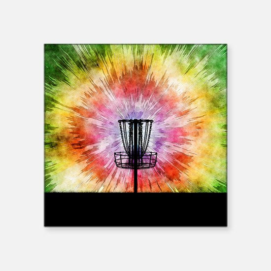 Tie Dye Disc Golf Basket Sticker