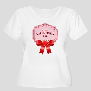 Happy Valentine's Day Plus Size T-Shirt