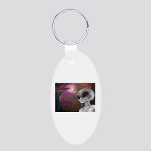 Human by day Pleiadian by light Keychains