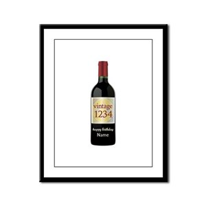 Custom Year and Name Wine Framed Panel Print