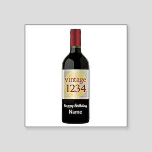 Custom Year and Name Wine Sticker