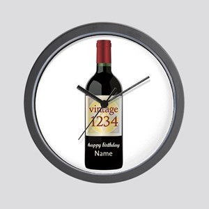Custom Year and Name Wine Wall Clock