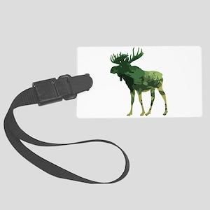 Camouflage Moose Animal Nature art Large Luggage T