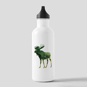 Camouflage Moose Animal Nature art Water Bottle