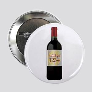 "Custom Vintage Wine 2.25"" Button"