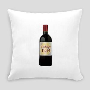 Custom Vintage Wine Everyday Pillow
